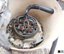 高架水槽 電極棒及び電極保持器 取替
