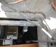 放流ポンプ排水管交換工事