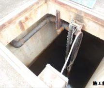 消泡ポンプ配管調整弁修繕