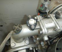 給水ポンプユニットフローセンサー取替