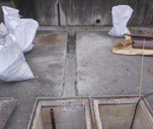 ばっ気ブロワー用埋設エアー管修繕