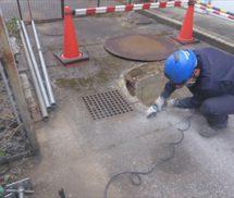 排水ポンプ電線管修繕
