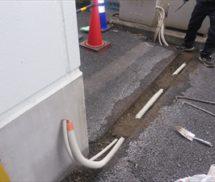 流量調整槽一次側配線新設工事