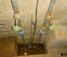 湧水ポンプ配管交換工事