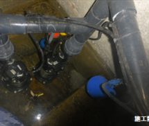 湧水槽・排水ポンプ交換作業