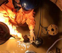 湧水槽・雨水槽排水ポンプ系統配管洗浄