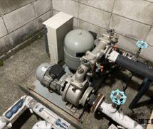 貯水槽  給水ポンプユニット取替