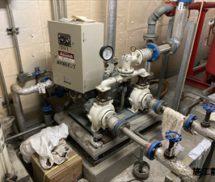 貯水槽  給水ポンプ取替工事