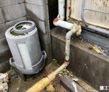塩素点滴部給水管修繕